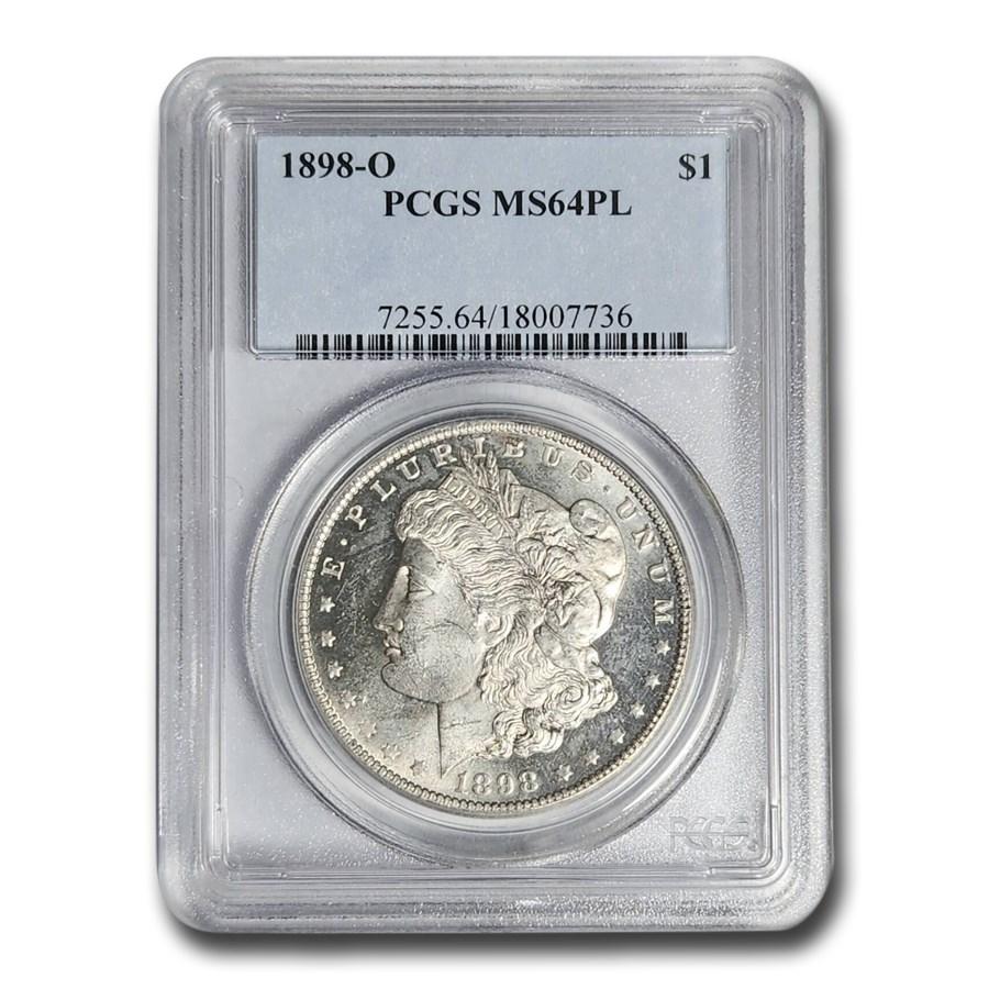 1898-O Morgan Dollar MS-64 PL PCGS