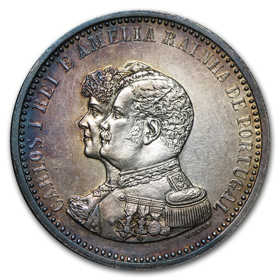 1898 Portugal 500 Reis BU