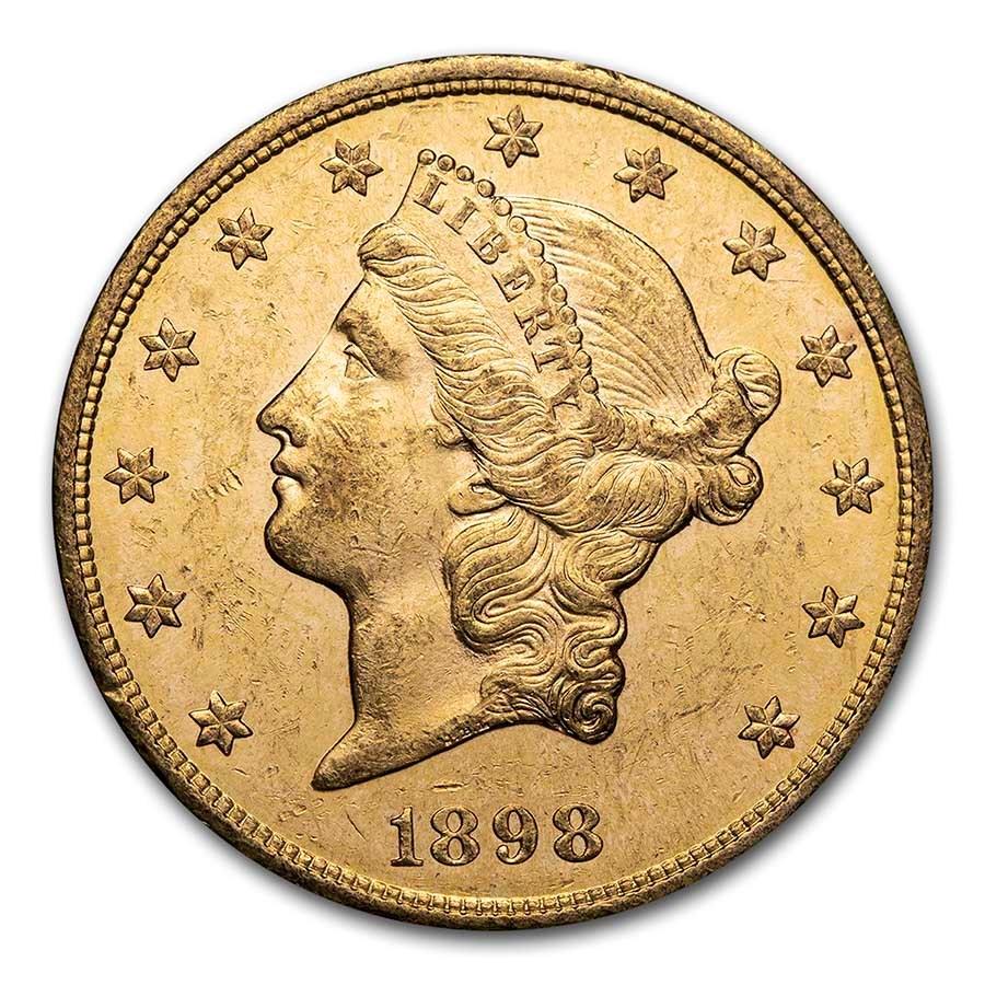 1898-S $20 Liberty Gold Double Eagle AU