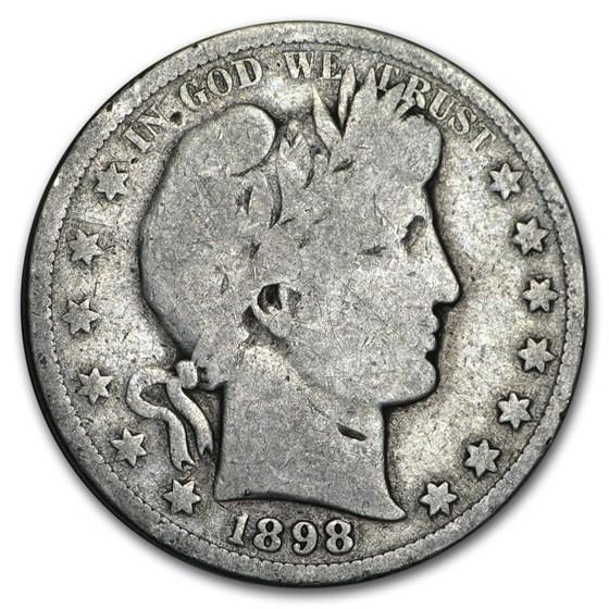 1898-S Barber Half Dollar Good