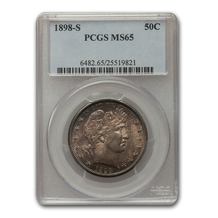 1898-S Barber Half Dollar MS-65 PCGS