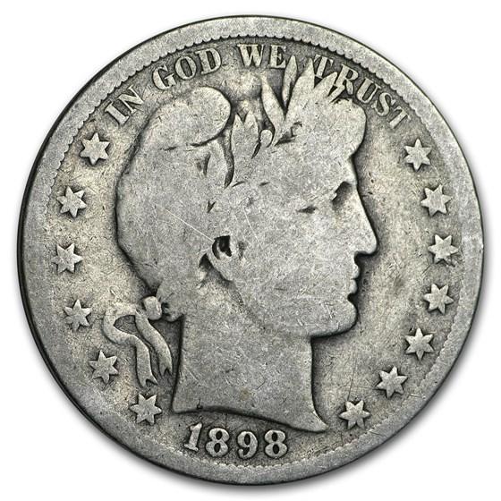1898-S Barber Half Dollar VG
