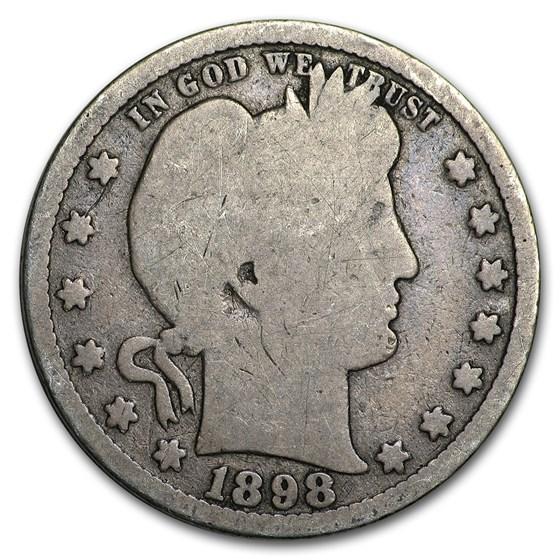 1898-S Barber Quarter Good