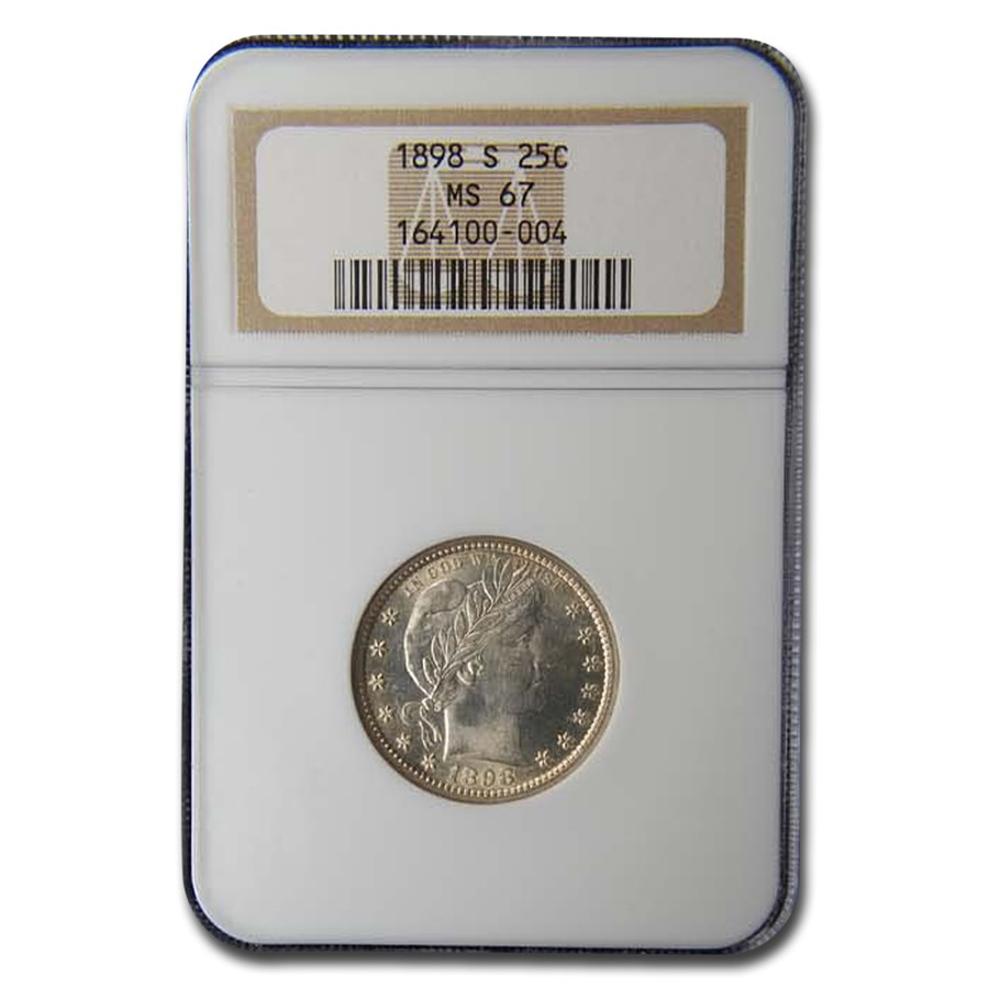 1898-S Barber Quarter MS-67 NGC
