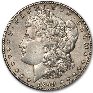 1898-S Morgan Dollar AU (Cleaned)