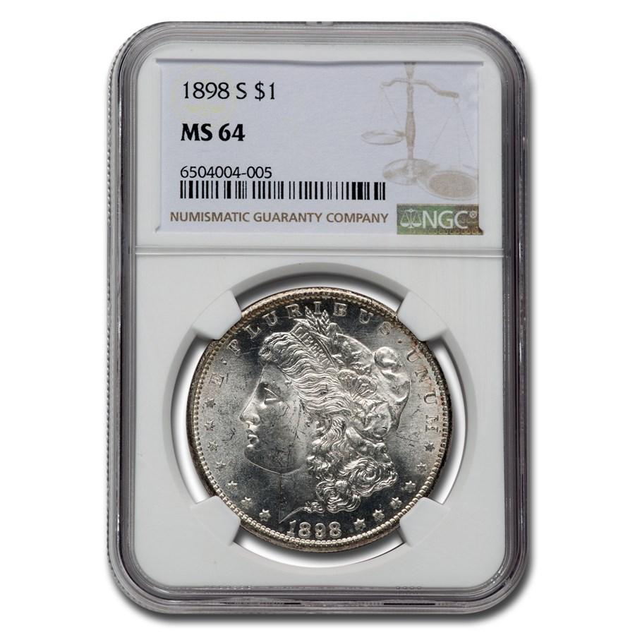 1898-S Morgan Dollar MS-64 NGC