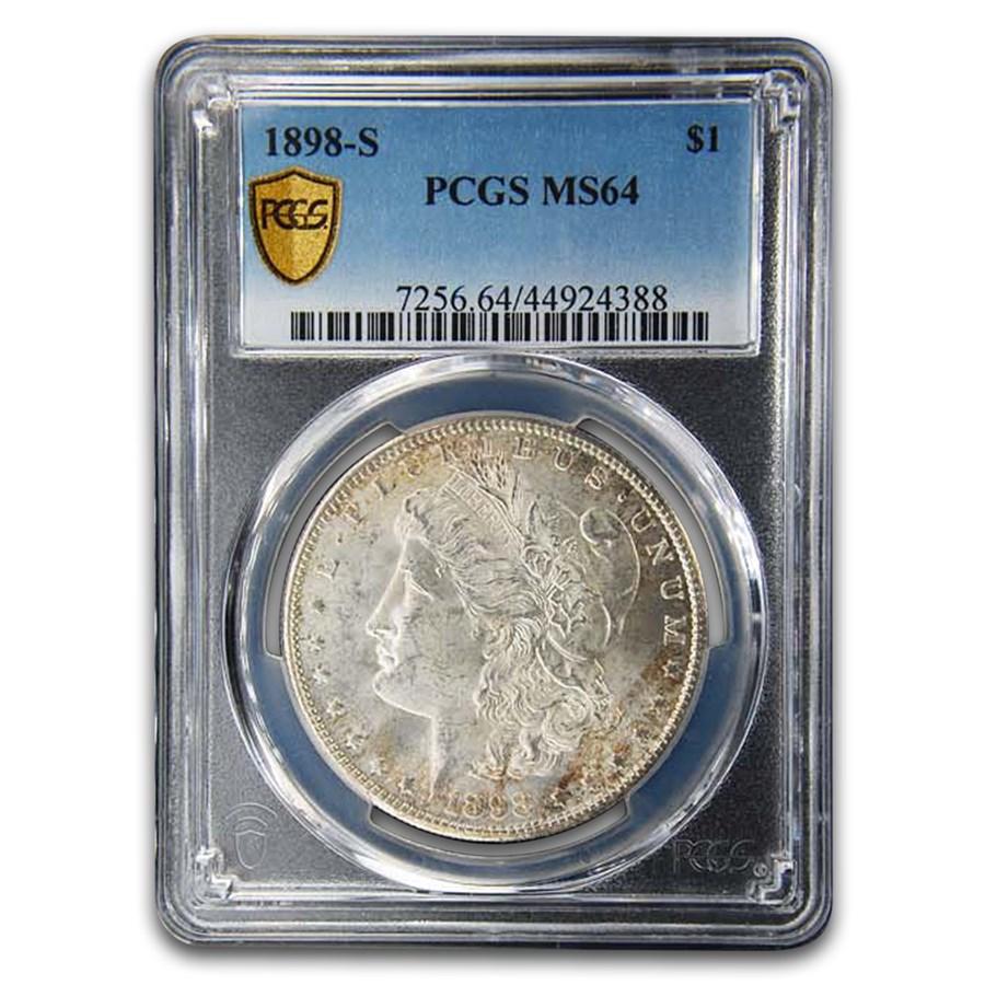 1898-S Morgan Dollar MS-64 PCGS