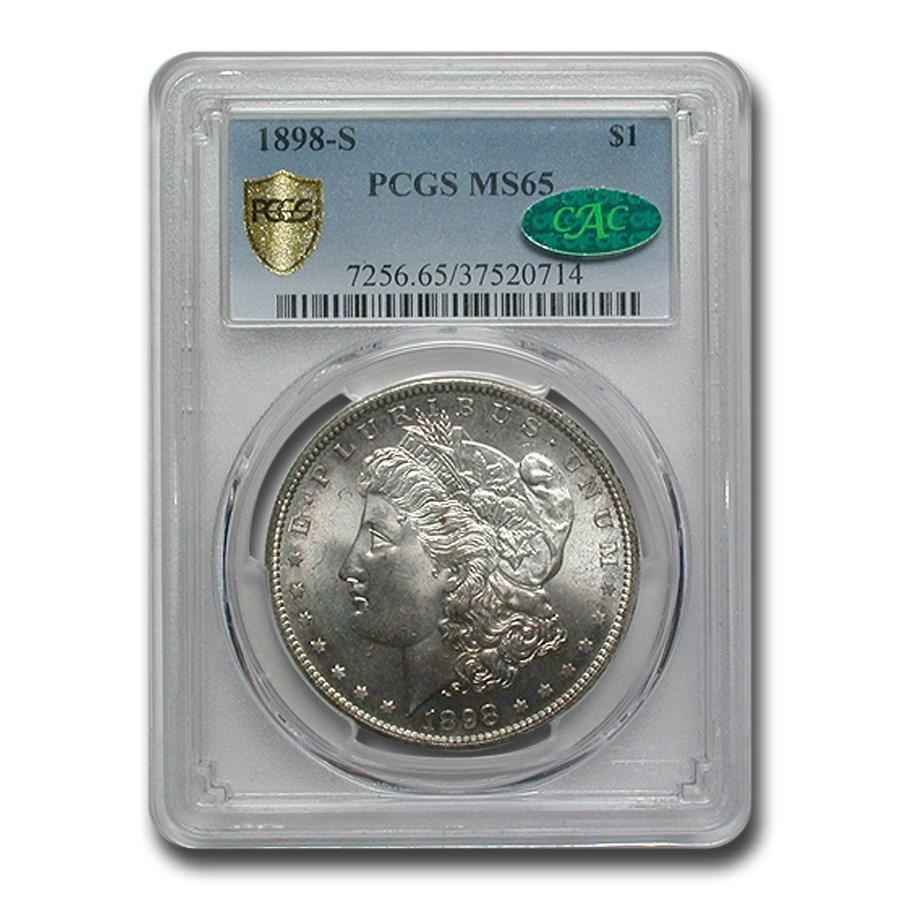 1898-S Morgan Dollar MS-65 PCGS CAC