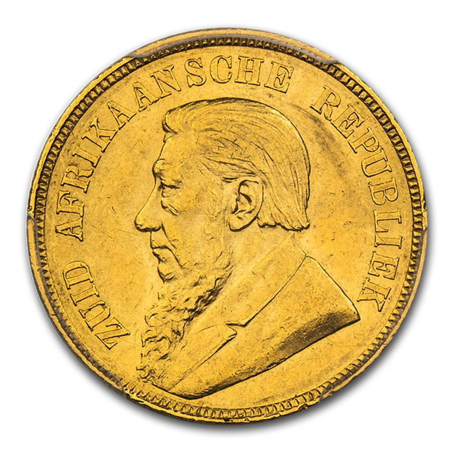 1898 South Africa Gold Een Pond MS-61 PCGS