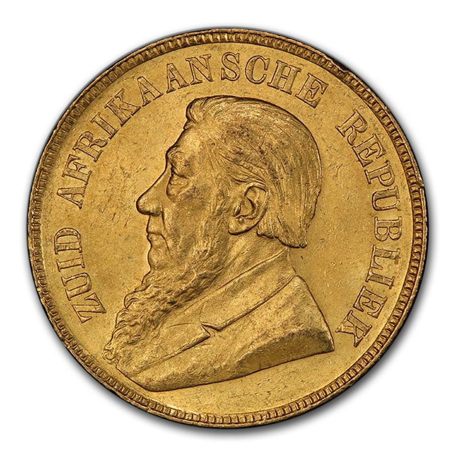 1898 South Africa Gold Een Pond MS-63 PCGS