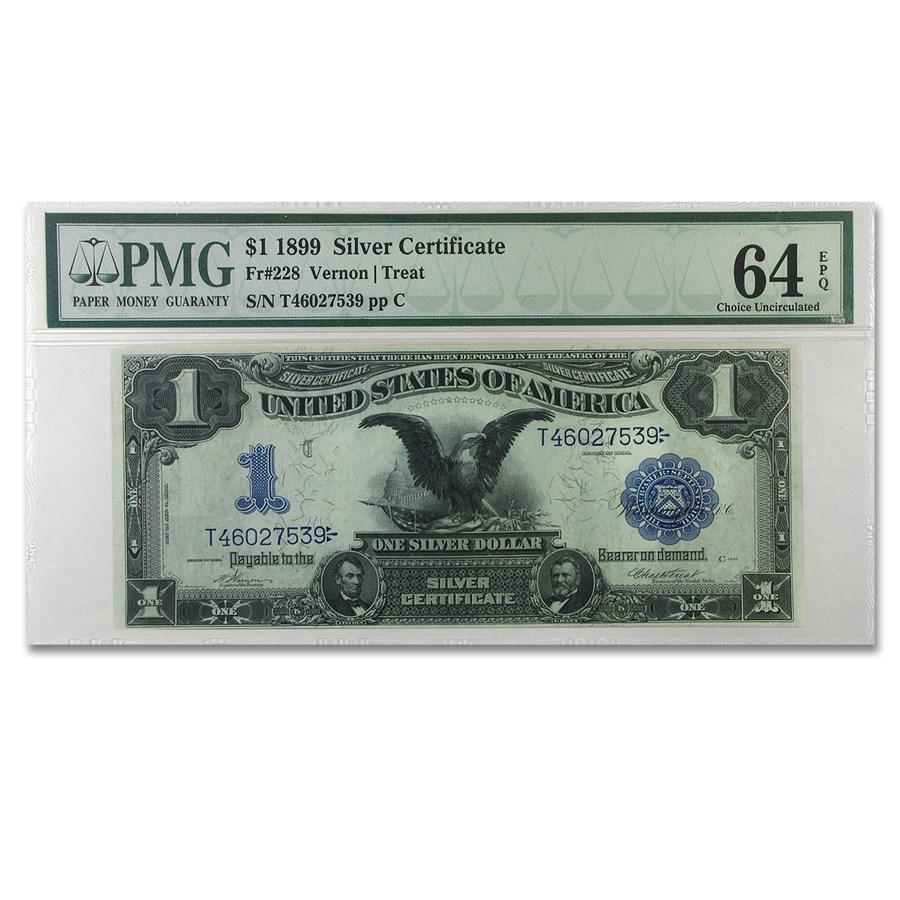 1899 $1.00 Silver Certificate Black Eagle CU-64 PMG (EPQ)