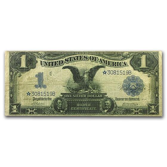 1899 $1.00 Silver Certificate Black Eagle Fine (Star Note)