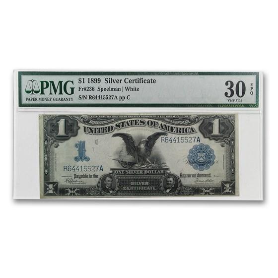 1899 $1.00 Silver Certificate Black Eagle VF-30 EPQ PMG