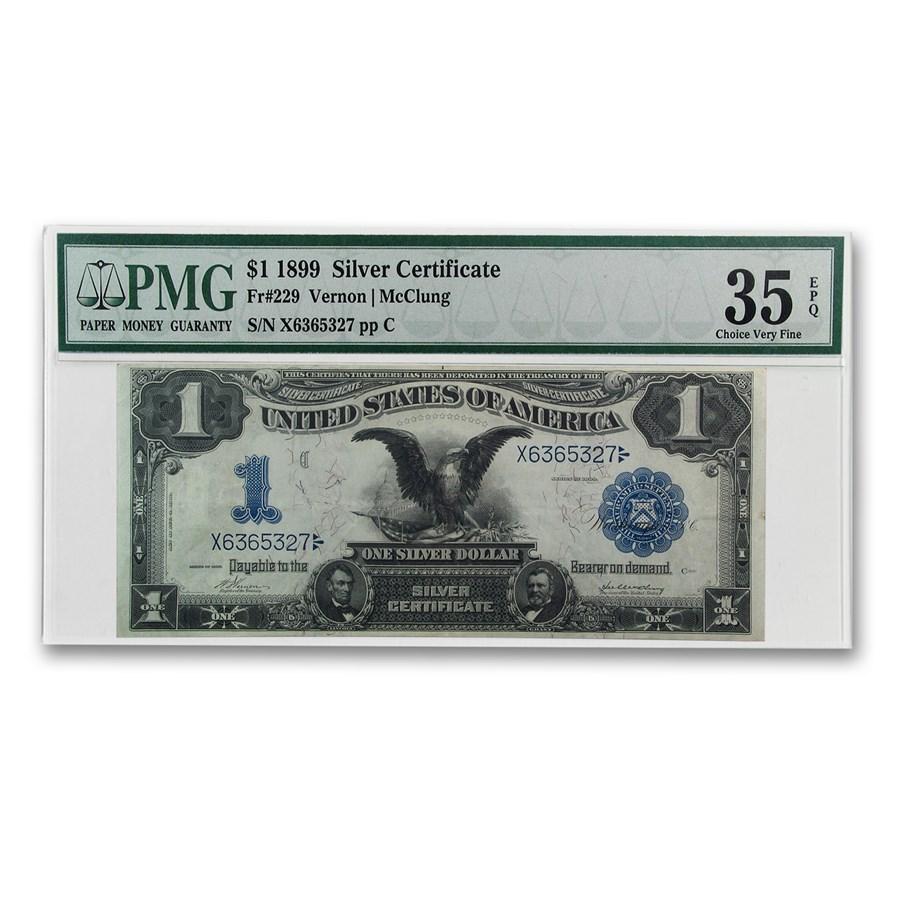1899 $1.00 Silver Certificate Black Eagle VF-35 EPQ PMG