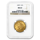 1899 $10 Liberty Gold Eagle MS-63 NGC