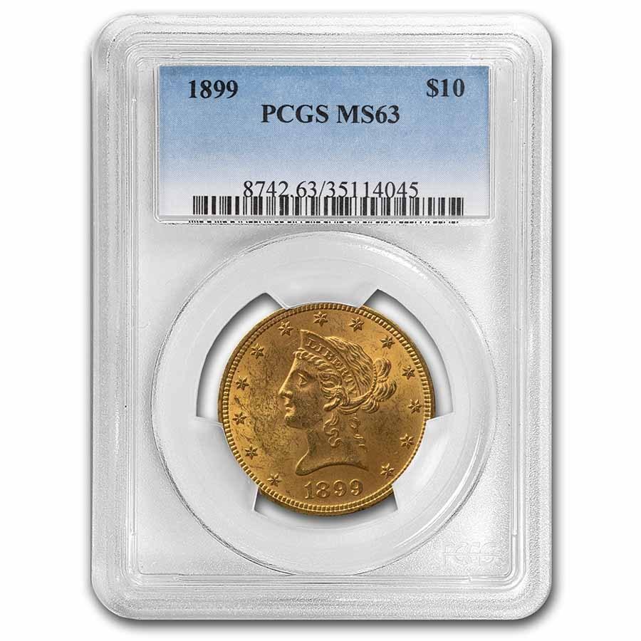 1899 $10 Liberty Gold Eagle MS-63 PCGS