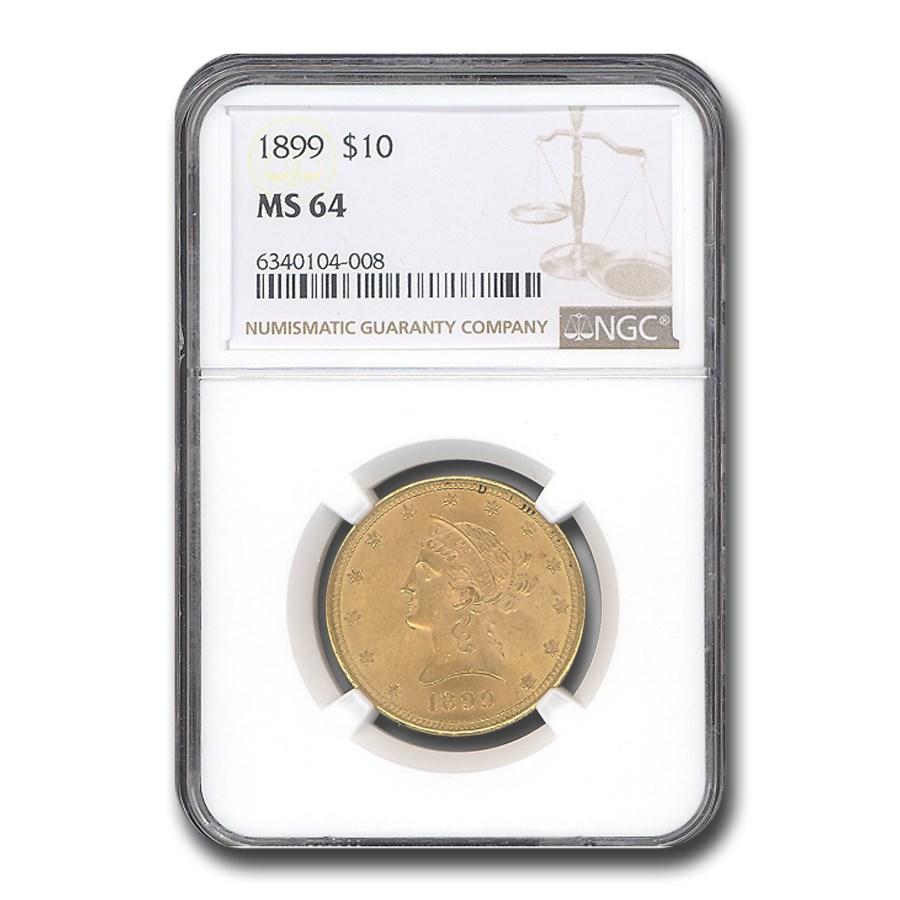 1899 $10 Liberty Gold Eagle MS-64 NGC