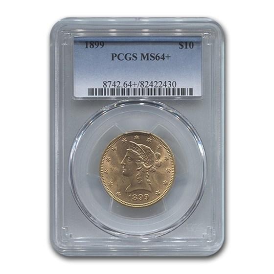 1899 $10 Liberty Gold Eagle MS-64+ PCGS