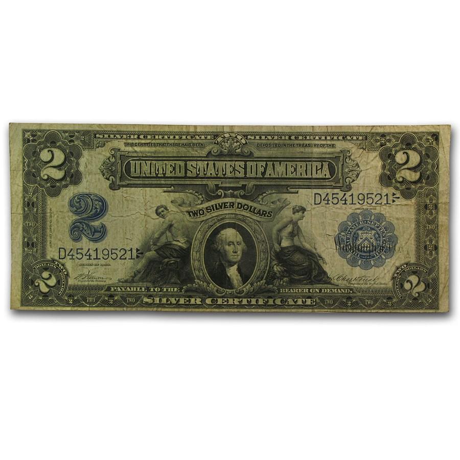 1899 $2.00 Silver Certificate Fine+