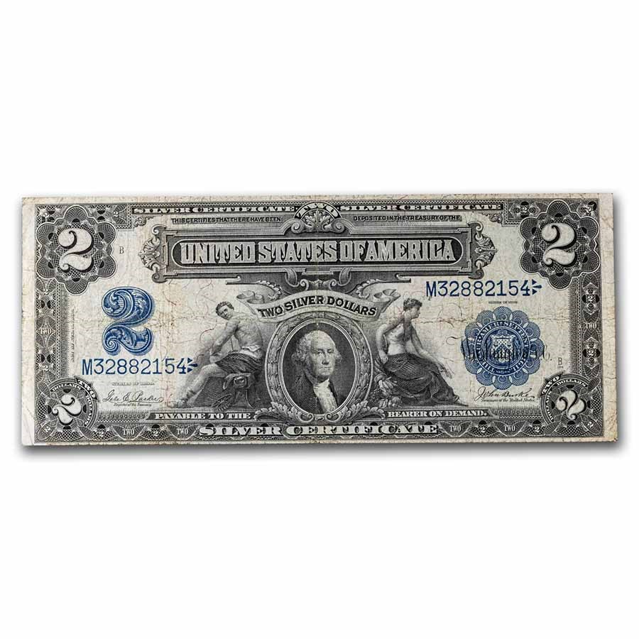 1899 $2.00 Silver Certificate George Washington VF (Fr#255)