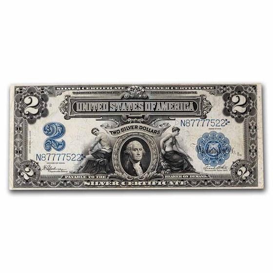 1899 $2.00 Silver Certificate George Washington VF (Fr#258)