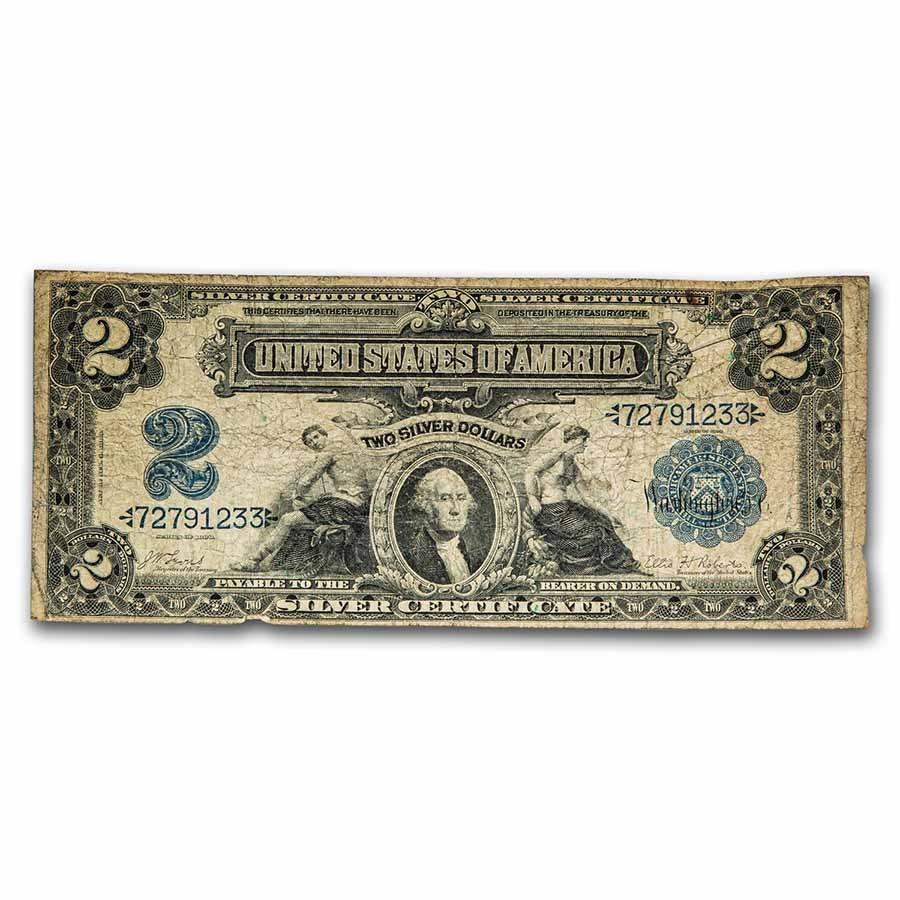 1899 $2.00 Silver Certificate George Washington VG (Fr#249)