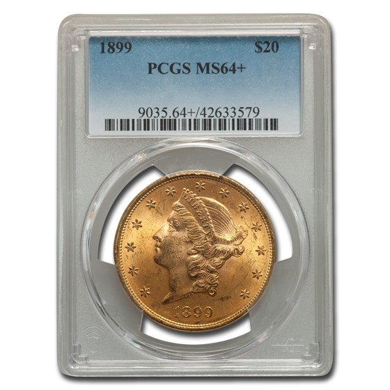 1899 $20 Liberty Double Eagle MS-64+ PCGS (Plus)