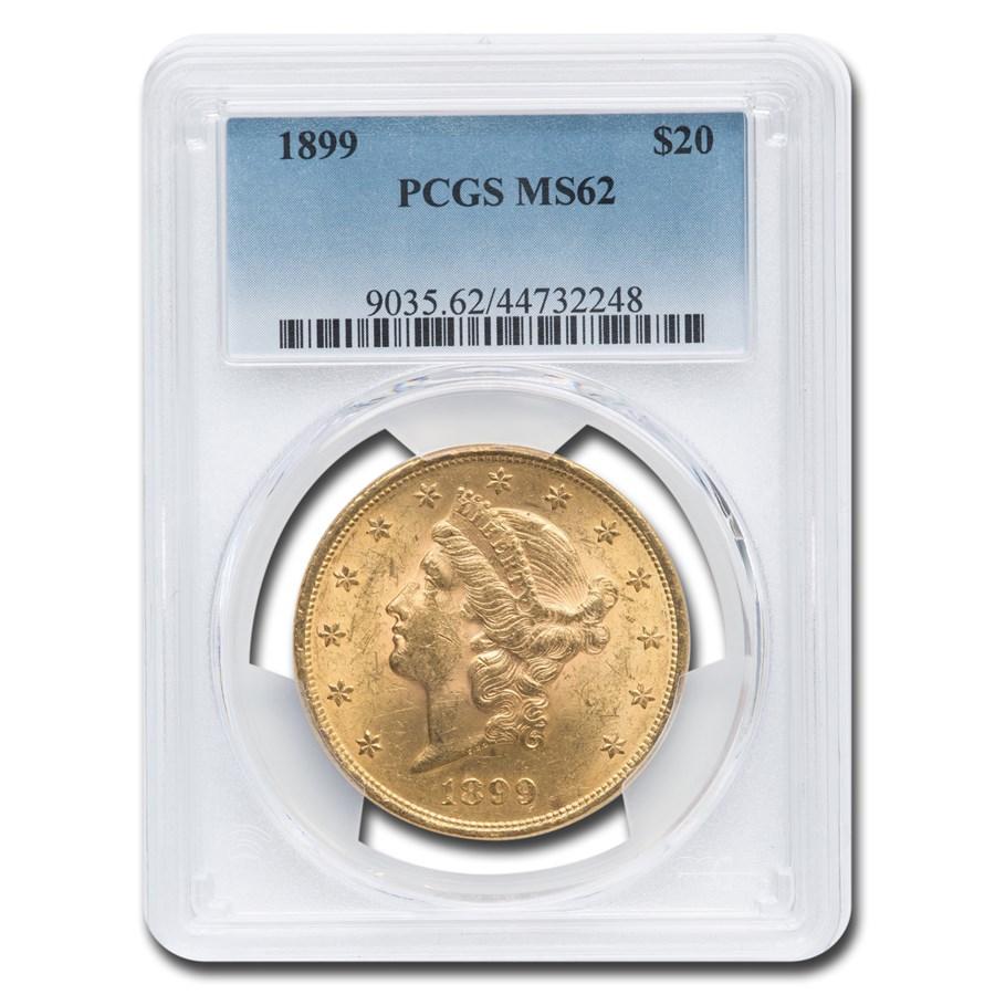 1899 $20 Liberty Gold Double Eagle MS-62 PCGS