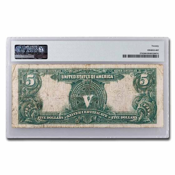 1899 $5.00 Silver Cert. Chief Running Antelope VF-20 PMG (Fr#278)