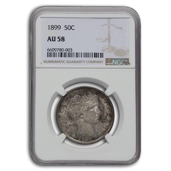 1899 Barber Half Dollar AU-58 NGC
