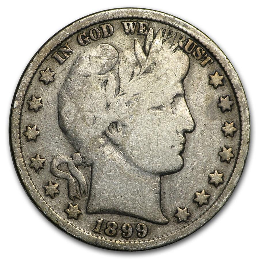 1899 Barber Half Dollar VG