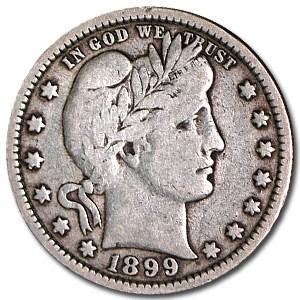 1899 Barber Quarter Fine