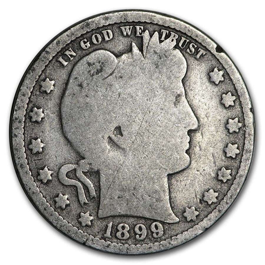 1899 Barber Quarter Good/VG