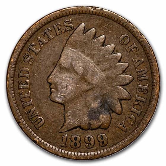 1899 Indian Head Cent Good+