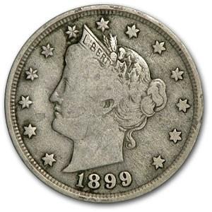 1899 Liberty Head V Nickel Fine