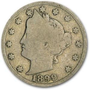 1899 Liberty Head V Nickel Good+