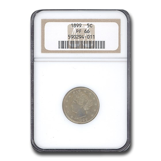 1899 Liberty Head V Nickel PF-66 NGC