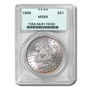 1899 Morgan Dollar MS-64 PCGS (Old Green Label)