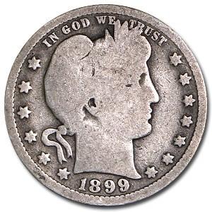 1899-O Barber Quarter Good