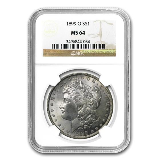 1899-O Morgan Dollar MS-64 NGC