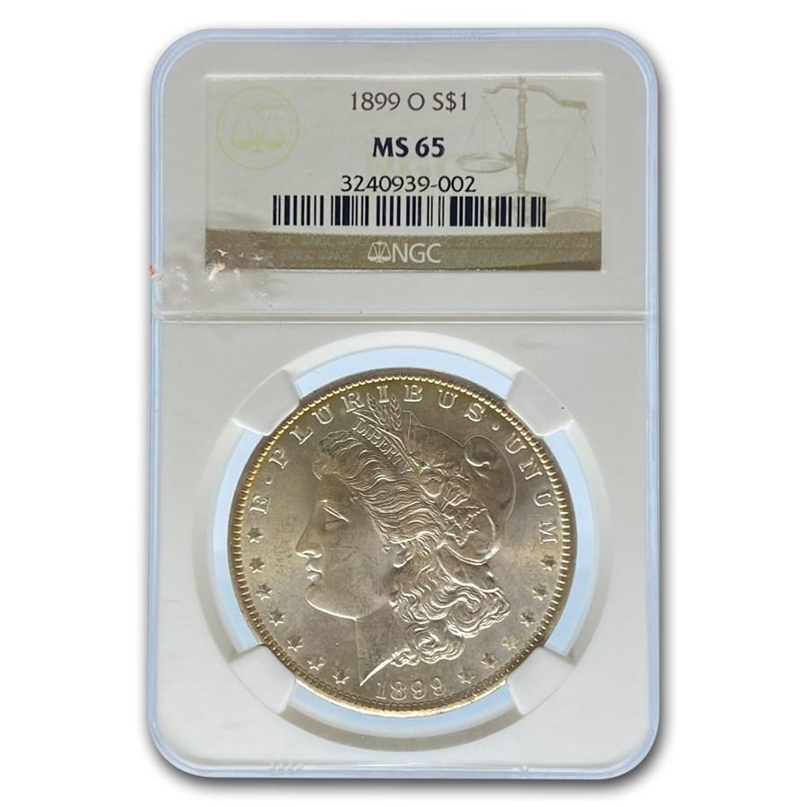 1899-O Morgan Dollar MS-65 NGC