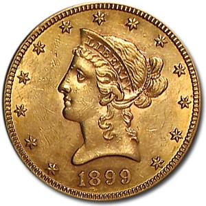 1899-S $10 Liberty Gold Eagle AU