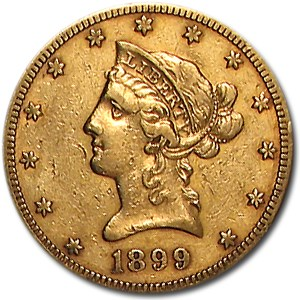 1899-S $10 Liberty Gold Eagle XF
