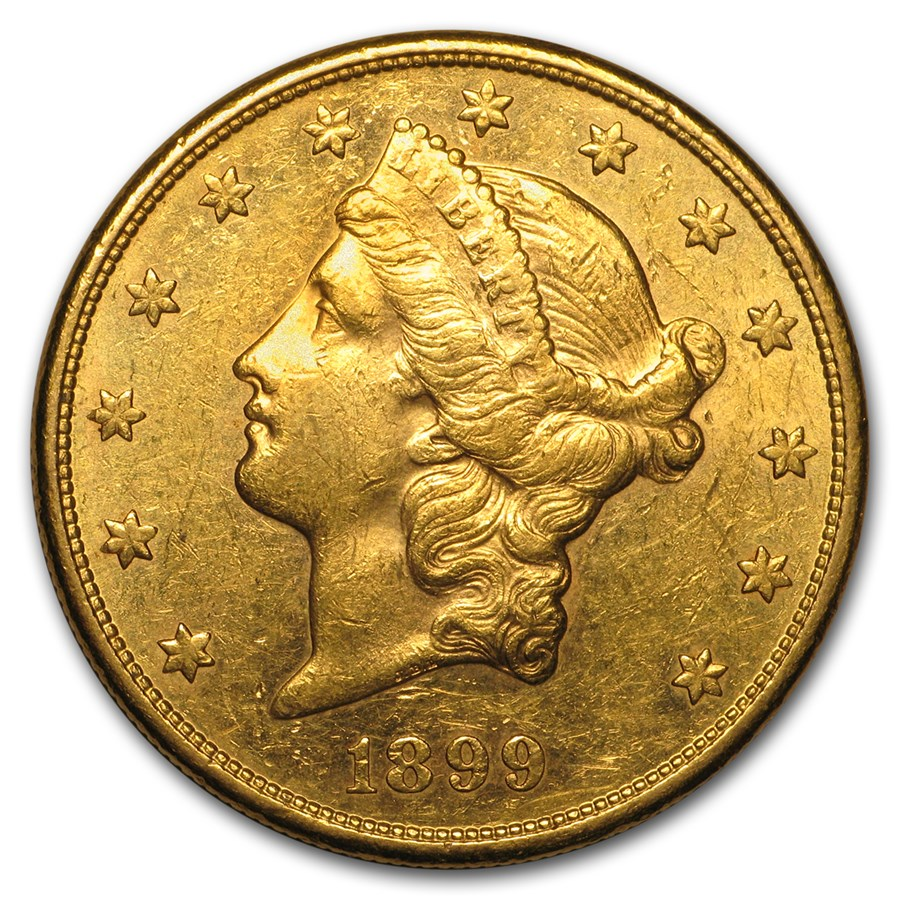 1899-S $20 Liberty Gold Double Eagle AU