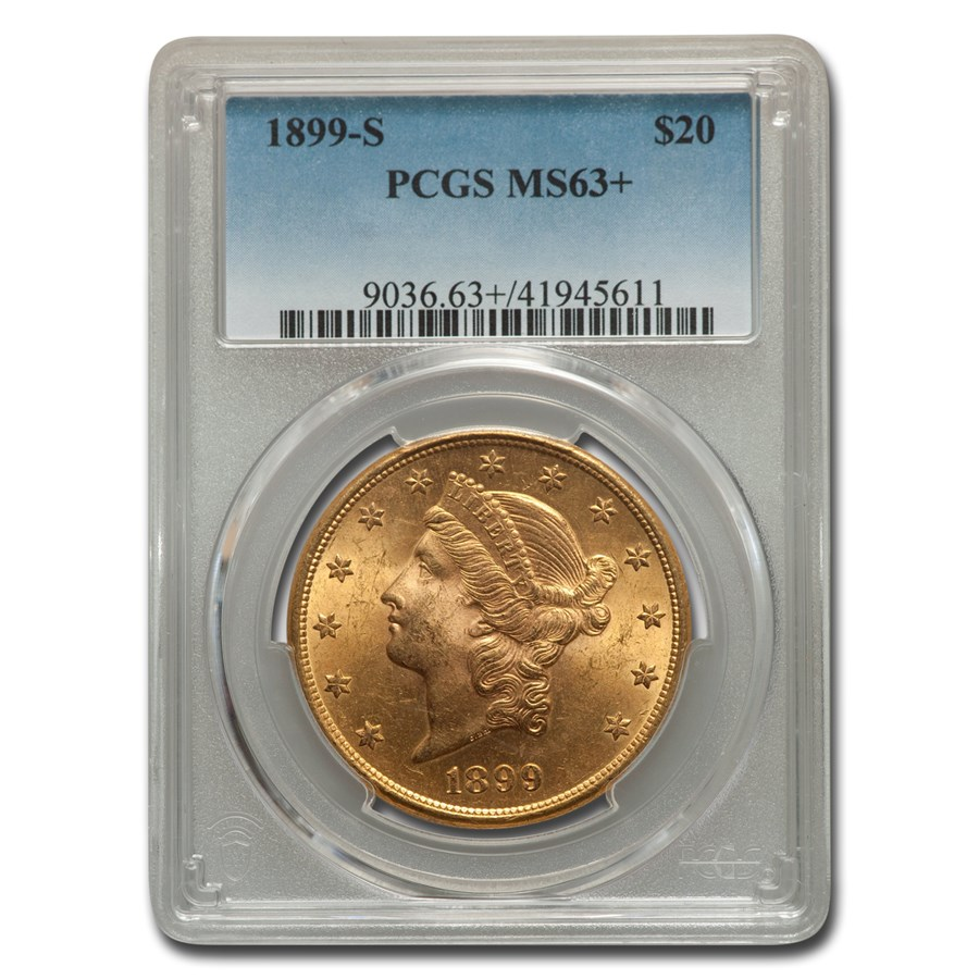 1899-S $20 Liberty Gold Double Eagle MS-63+ PCGS