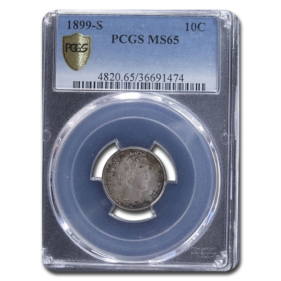 1899-S Barber Dime MS-65 PCGS