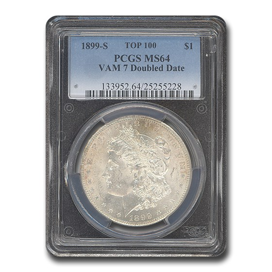 1899-S MS-64 PCGS (VAM-7, Doubled Date, Top-100)