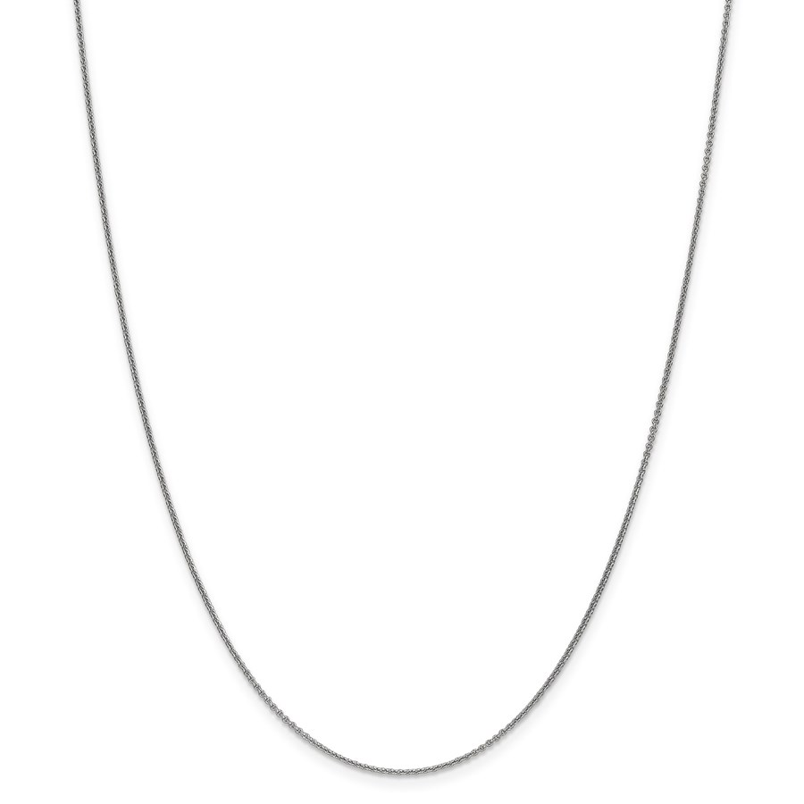 18k Leslies White Gold 1.15 mm Solid Cable Chain - 18 in.
