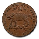 18th Century Middlesex Farthing Token MS-64BN PCGS (Brown)