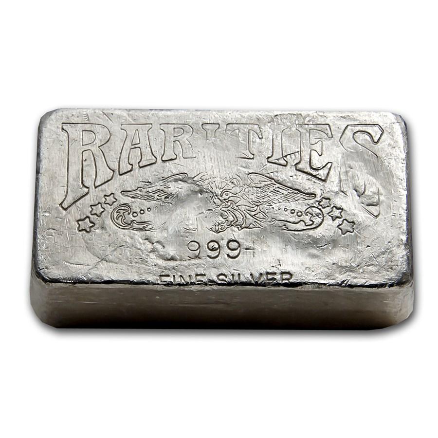 19.65 oz Silver Bar - Rarities Mint (Poured)
